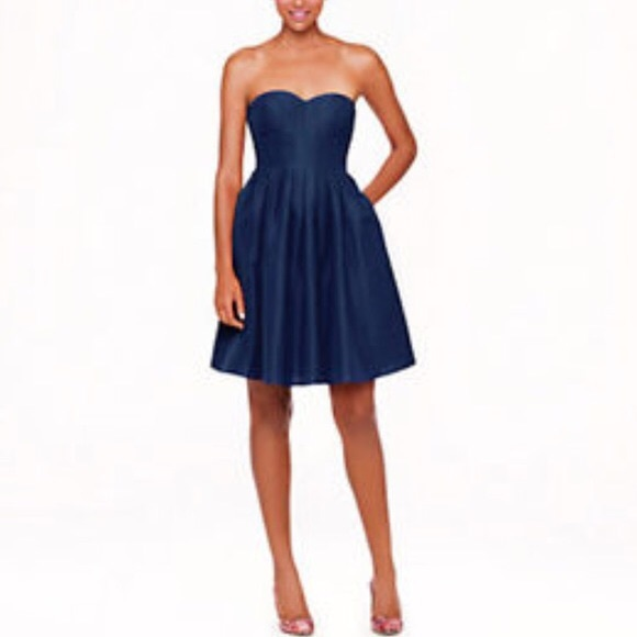 J. Crew Dresses & Skirts - J.crew Marlie Strapless Sweetheart Pleated Dress